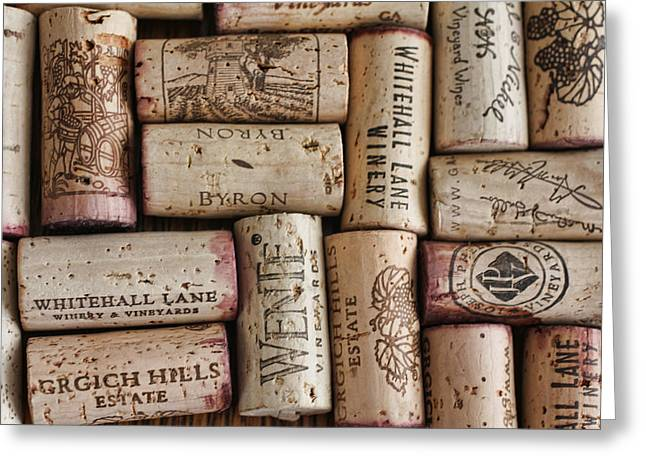 Sauvignon Digital Art Greeting Cards - California Corks Greeting Card by Nancy Ingersoll