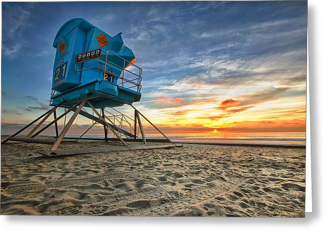 Houses Greeting Cards - California Dreaming Greeting Card by Larry Marshall