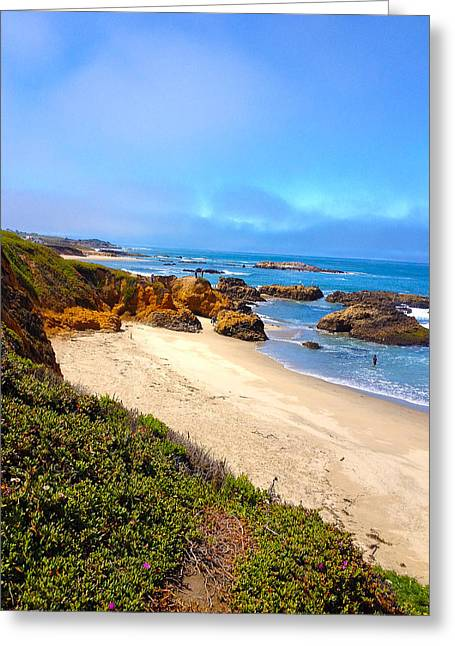 California Ocean Photography Paintings Greeting Cards - California Dreaming- Ocean Coast Greeting Card by Kathy  Symonds