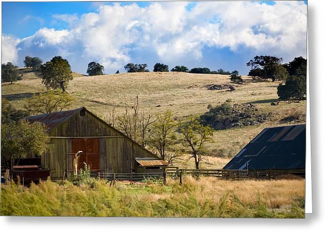 Ranch Greeting Cards - California Farmland Greeting Card by Peter Tellone