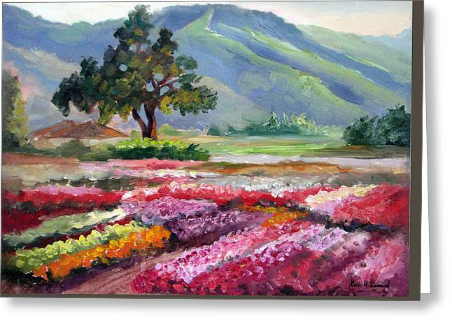 California Flower Farm Greeting Card by Karin Leonard
