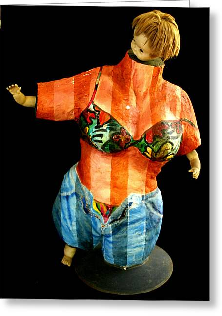 People Sculptures Greeting Cards - California Gal Greeting Card by Gideon Cohn