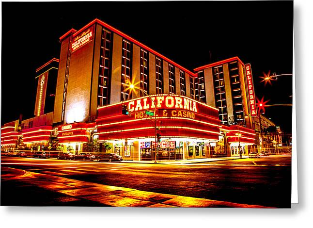 California Hotel Greeting Card by Az Jackson