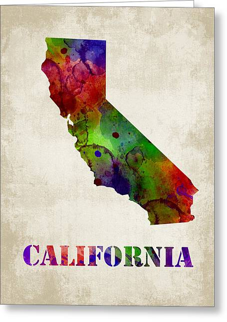 Brown Greeting Cards - California Greeting Card by Mihaela Pater
