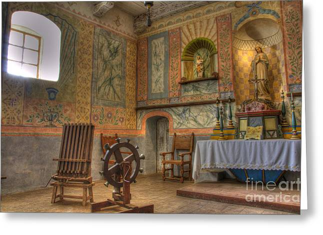 California Missions La Purisima Alter Greeting Card by Bob Christopher