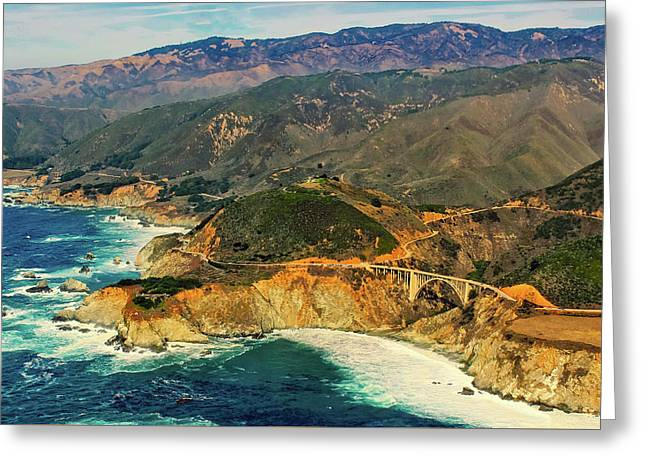 California Pacific Coastline Greeting Card by Chris Leipelt