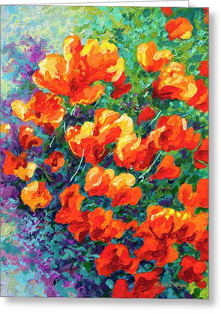 Bouquet Greeting Cards - California Poppies Greeting Card by Marion Rose