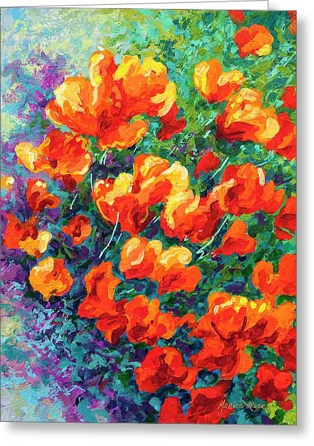California Poppies Greeting Card by Marion Rose