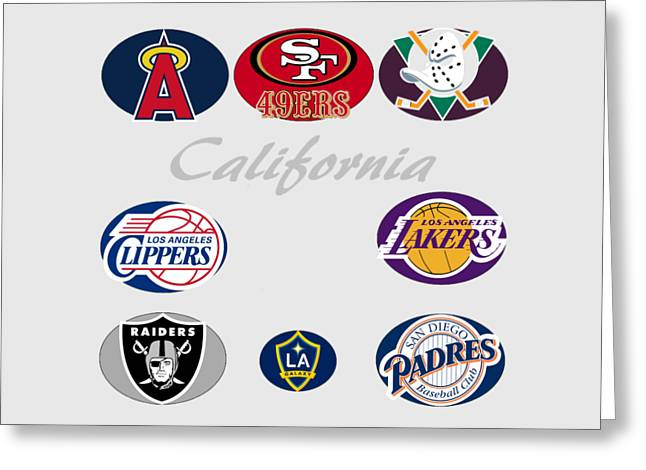 California Professional Sport Teams Collage  Greeting Card by Movie Poster Prints