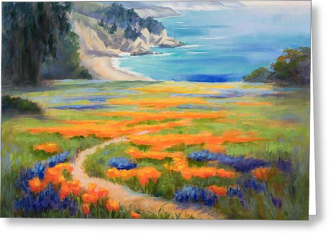 California Spring Big Sur Greeting Card by Karin  Leonard