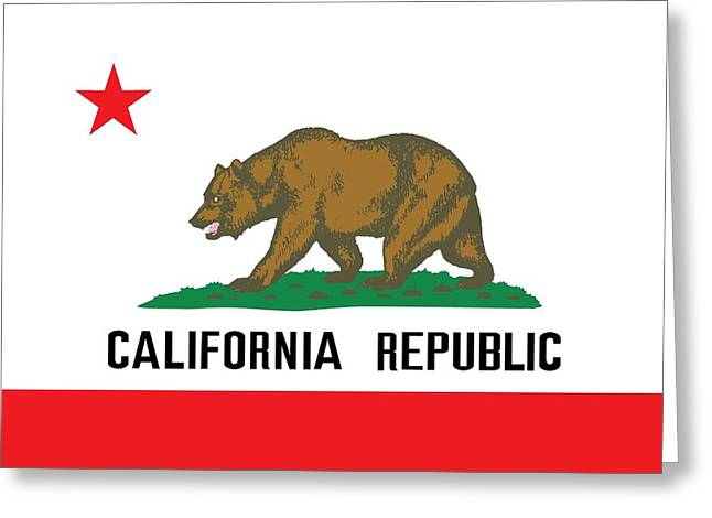 Born Star Greeting Cards - California state flag Greeting Card by American School