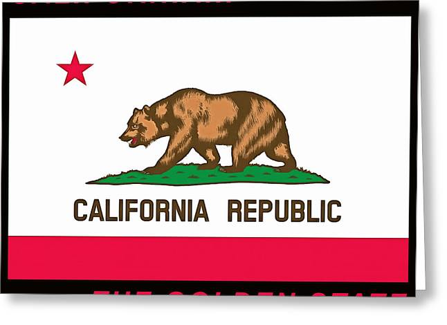 Calif Greeting Cards - California State Flag Greeting Card by Floyd Snyder