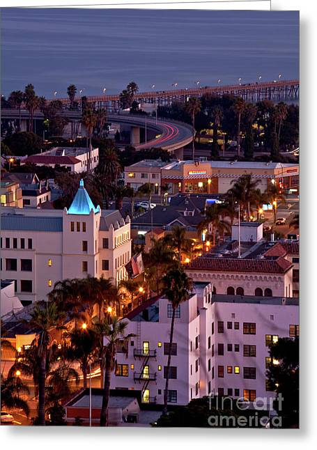 California Street At Ventura California Greeting Card by John A Rodriguez