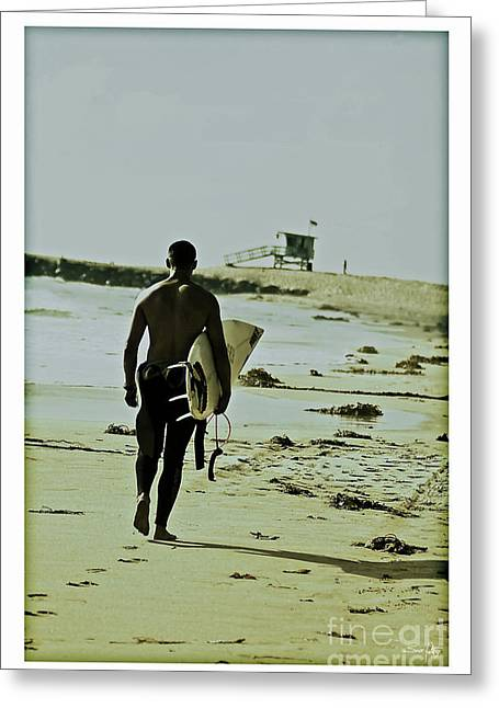 Guard Tower Greeting Cards - California Surfer Greeting Card by Scott Pellegrin