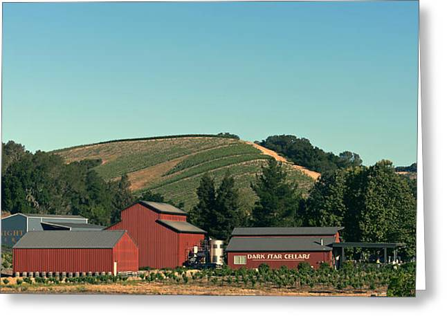 Cellar Greeting Cards - California Valley Wine Cellar And Winery Greeting Card by Mountain Dreams