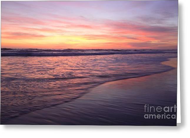Ocean Photography Greeting Cards - California Waves 48x72 Print Greeting Card by John Tsumas