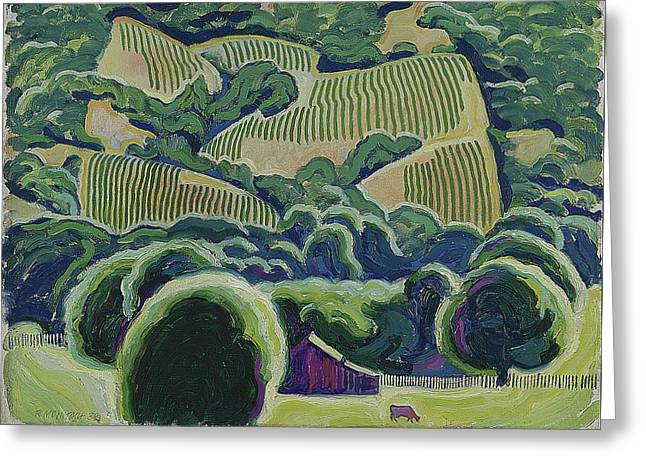 California Wine Country Greeting Card by Robert McIntosh