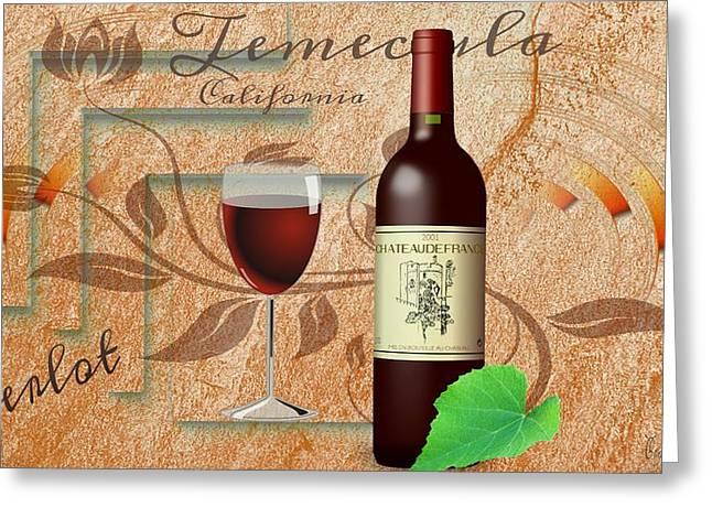 Merlot Drawings Greeting Cards - California Wine Festival  Greeting Card by Craig Williams