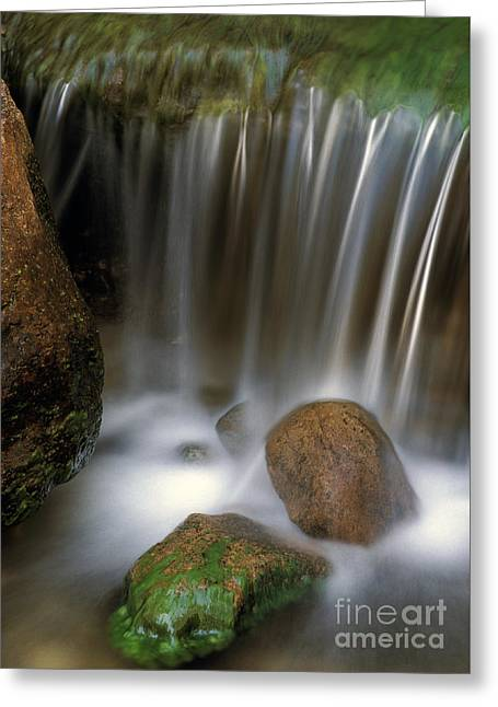 Californian Greeting Cards - Californian Waterfall Greeting Card by Theodore Clutter