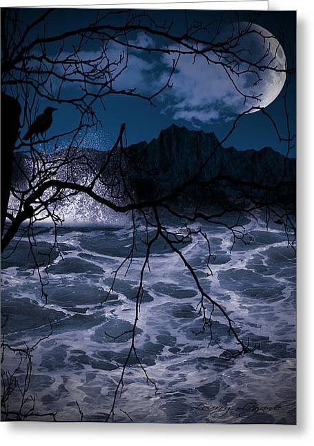 Nightscapes Greeting Cards - Caliginosity Greeting Card by Lourry Legarde