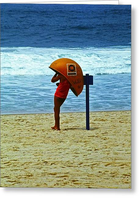 Ipanema Beach Greeting Cards - Call Me ... Greeting Card by Juergen Weiss