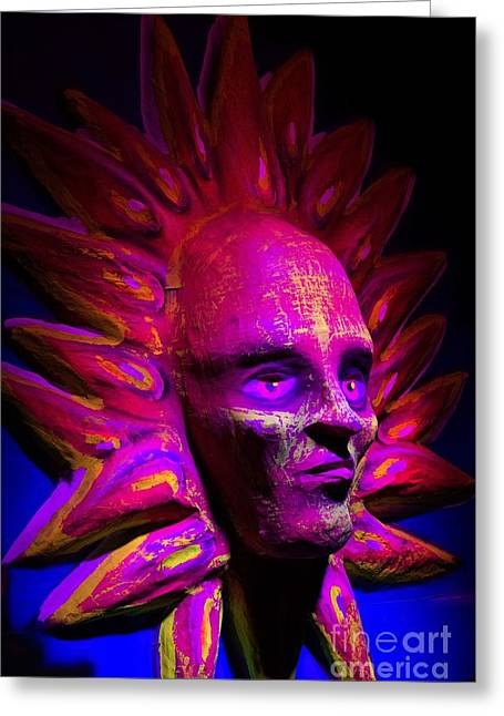 Papier Mache Greeting Cards - Call Me Sunshine II Greeting Card by Al Bourassa