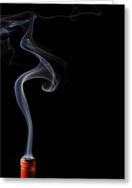 Smoke Art Greeting Cards - Calla Lilly in Smoke Greeting Card by Bryan Steffy