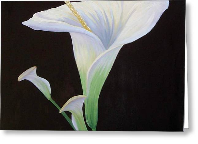 Calla Lily Pastels Greeting Cards - Calla Lily X Greeting Card by Mary Erbert