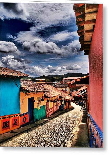 Calle De Colores Greeting Card by Skip Hunt