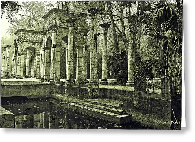 Entryway Greeting Cards - Calle Grande Ruins Greeting Card by DigiArt Diaries by Vicky B Fuller