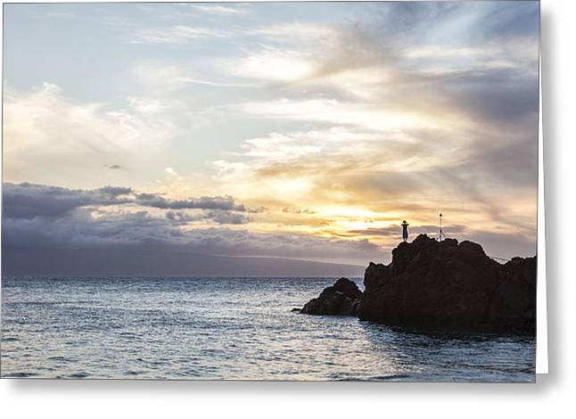 Calling From Maui Greeting Card by Jon Glaser