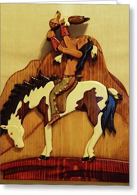 Scene Sculptures Greeting Cards - Calling the Great Spirit Greeting Card by Russell Ellingsworth
