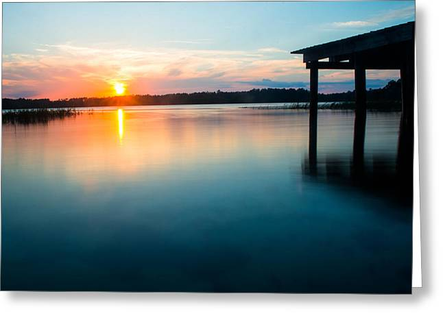 Lake House Greeting Cards - Calm by the Dock Greeting Card by Parker Cunningham