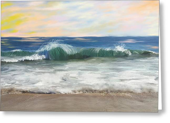 California Beaches Greeting Cards - Calm Day at the Wedge Newport Beach Greeting Card by Angela A Stanton