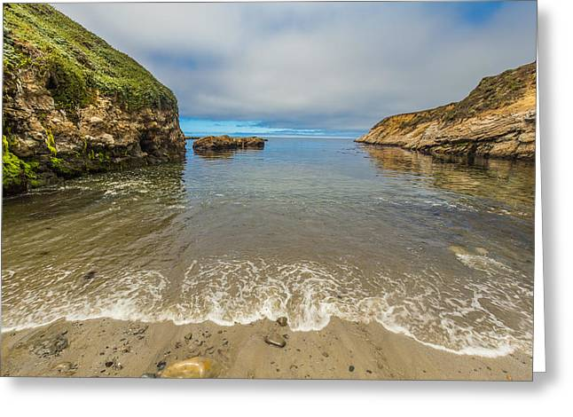 California Beaches Greeting Cards - Calm Day on the Coast Greeting Card by Marc Crumpler