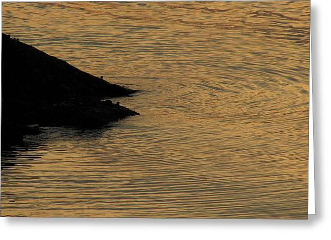 Cushing Greeting Cards - Calm Days End Greeting Card by Kelly Mezzapelle