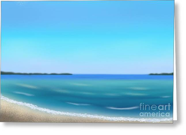 Abstract Seascape Pastels Greeting Cards - Calm Ocean Greeting Card by Jerod Roberts