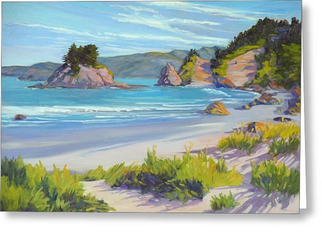 Calm Ocean Waters Greeting Card by Rhett Regina Owings