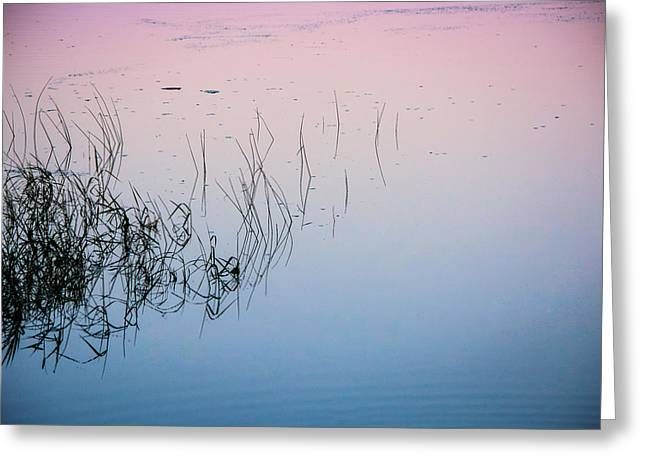 Sunset Abstract Greeting Cards - Calm on the Lake Greeting Card by Parker Cunningham