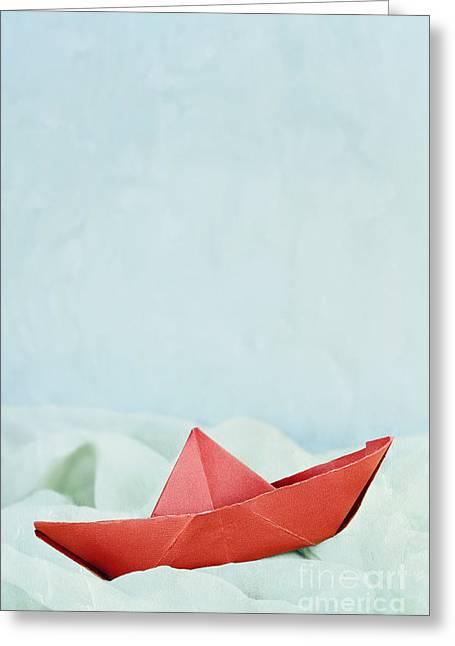Pretending Greeting Cards - Calm Seas Greeting Card by Stephanie Frey