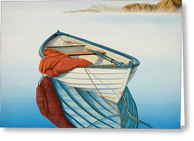 Fishing Boats Greeting Cards - Calm Waters Greeting Card by Horacio Cardozo