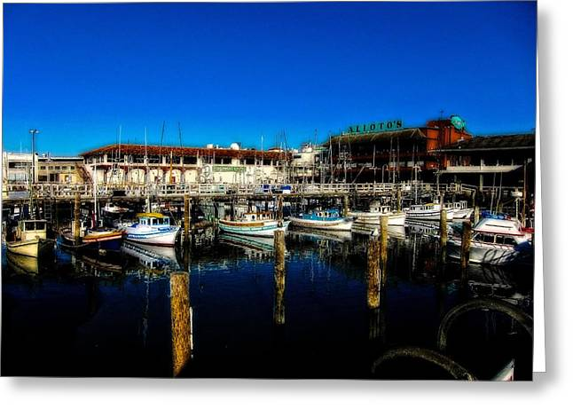 Fishermen Wharf Greeting Cards - Calm Waters V2 Greeting Card by Douglas Barnard
