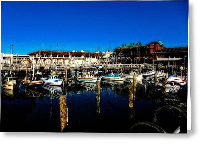 Fisherman Wharf Greeting Cards - Calm Waters V2 Greeting Card by Douglas Barnard