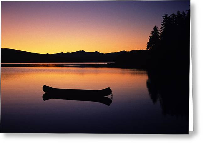Calming Canoe Greeting Card by John Hyde - Printscapes