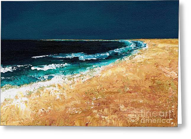 Calming Waters Greeting Card by Frances Marino