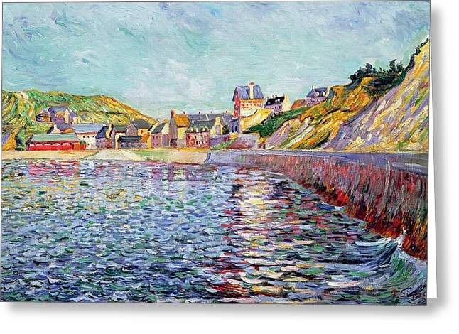 Port Greeting Cards - Calvados Greeting Card by Paul Signac