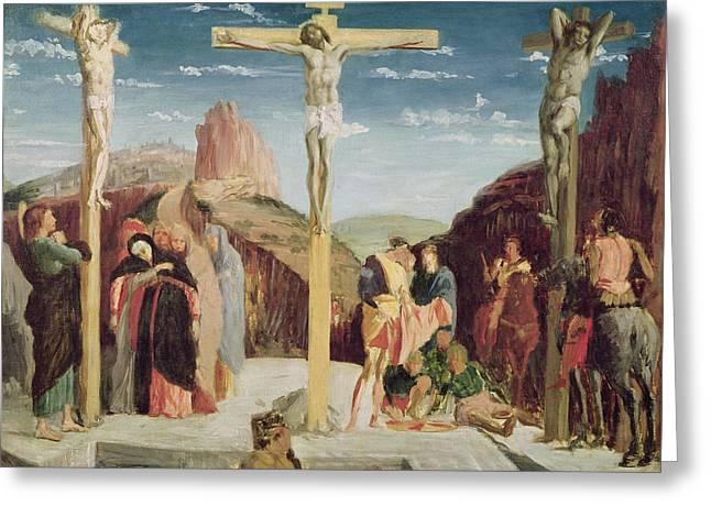 Calvary Greeting Card by Andrea Mantegna