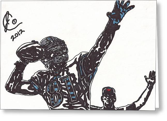 Player Greeting Cards - Calvin Johnson Jr 2 Greeting Card by Jeremiah Colley