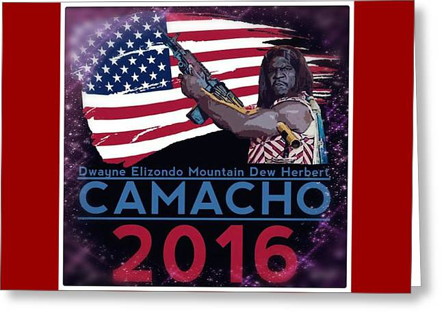 Camacho 2016 Greeting Card by Laura Michelle Corbin