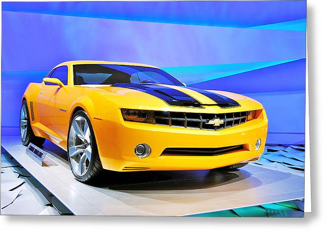 General Concept Greeting Cards - Camaro Bumble Bee 0993 Greeting Card by Michael Peychich